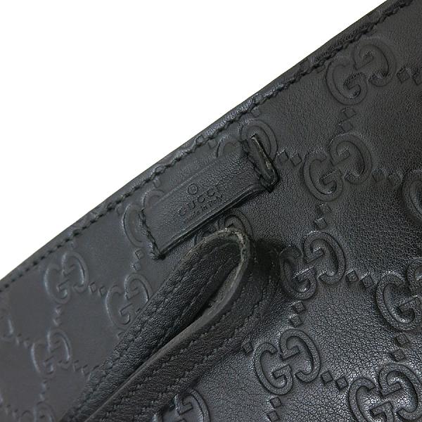 Gucci(구찌) 201755 GG 로고 블랙 컬러 시마 레더 파우치 클러치 세컨백 [인천점] 이미지4 - 고이비토 중고명품