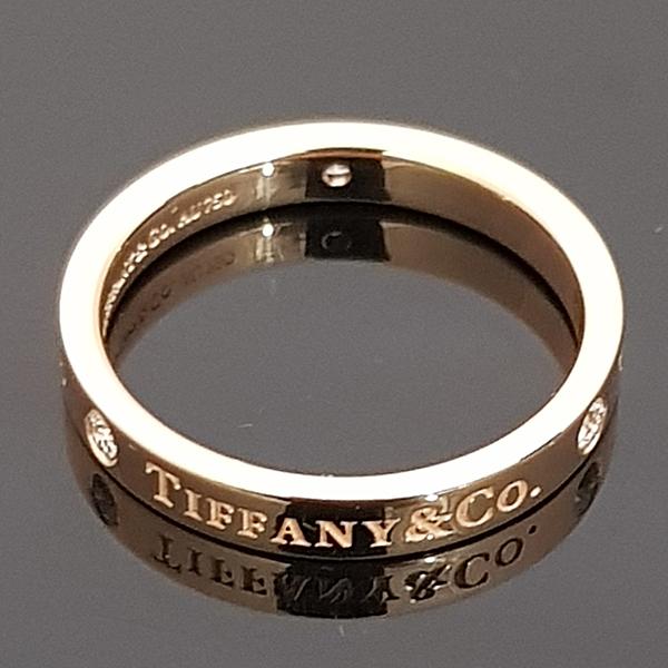 Tiffany(티파니) 18K 핑크 골드 Tiffany&Co 라운드 로고 브릴리언트 3포인트 다이아 3MM 반지-14.5호 [동대문점] 이미지2 - 고이비토 중고명품
