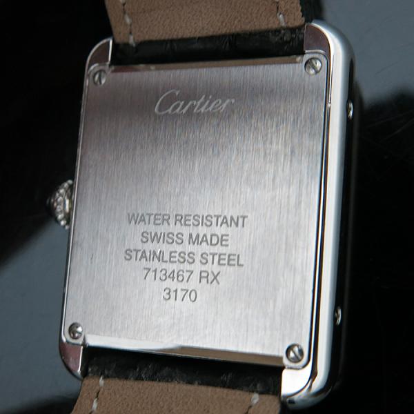 Cartier(까르띠에) W5200005 Tank Solo 탱크솔로 S사이즈 더블 디플로이언트 버클 가죽밴드 쿼츠 여성용 시계 [인천점] 이미지4 - 고이비토 중고명품