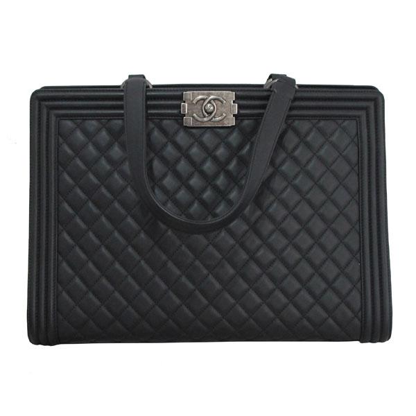 Chanel(샤넬) A92312 블랙 램스킨 퀼팅 보이 샤핑 여성용 토트백 [대구반월당본점] 이미지2 - 고이비토 중고명품