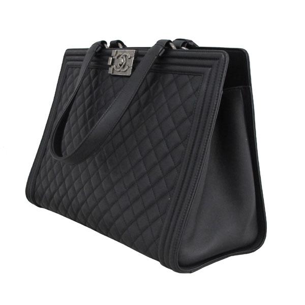 Chanel(샤넬) A92312 블랙 램스킨 퀼팅 보이 샤핑 여성용 토트백 [대구반월당본점] 이미지3 - 고이비토 중고명품