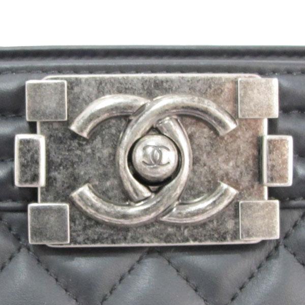 Chanel(샤넬) A92312 블랙 램스킨 퀼팅 보이 샤핑 여성용 토트백 [대구반월당본점] 이미지4 - 고이비토 중고명품