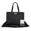 Chanel(샤넬) A92312 블랙 램스킨 퀼팅 보이 샤핑 여성용 토트백 [대구반월당본점]