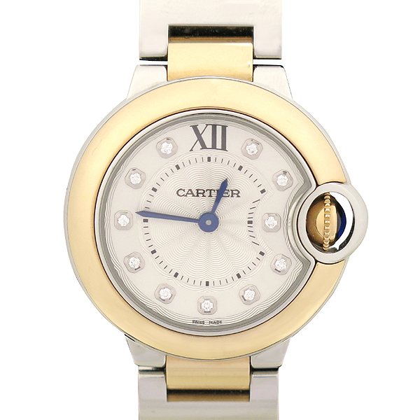 Cartier(까르띠에) W3BB0005 BALLON BLEU (발롱블루) 18K 핑크 골드 콤비 28MM 여성용 시계 [강남본점] 이미지2 - 고이비토 중고명품