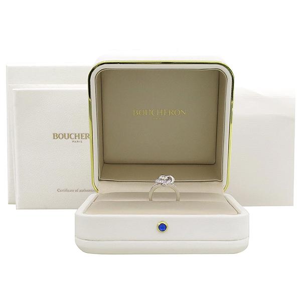BOUCHERON(부쉐론) JSL0010150 18K 화이트골드 PIVOINE 피브완 0.20캐럿 1포인트 라운드 다이아 0.57캐럿 44어라운드 다이아 셋팅 웨딩밴드 반지 [잠실점]