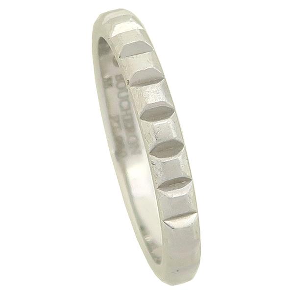 BOUCHERON(부쉐론) JAL0010955 클루 드 파리 코블스톤 모티브 PT950 플래티늄 웨딩 밴드 반지 [잠실점] 이미지2 - 고이비토 중고명품
