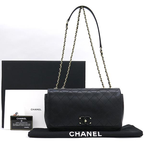 Chanel(샤넬) AS0534B00404 블랙 카프스킨 coco로고 락장식 플랩 골드체인 숄더백 [잠실점]