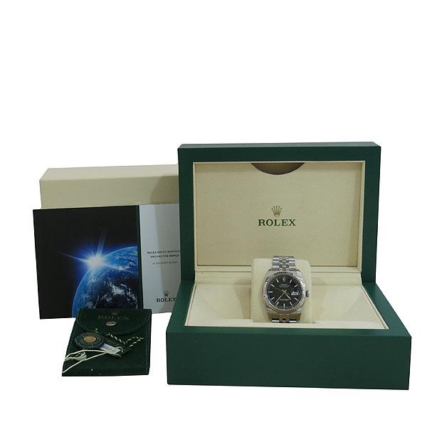 Rolex(로렉스) 116234 DATEJUST(데이저스트) 블랙 다이얼 바 인덱스 스틸 남성용 시계 [대구동성로점]