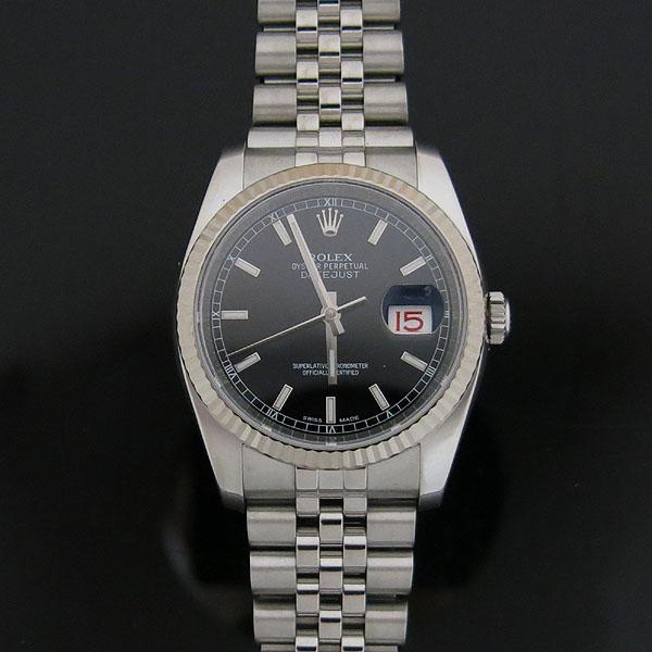 Rolex(로렉스) 116234 DATEJUST(데이저스트) 블랙 다이얼 바 인덱스 스틸 남성용 시계 [대구동성로점] 이미지2 - 고이비토 중고명품