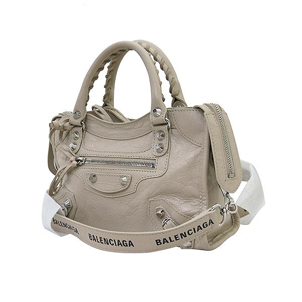 Balenciaga(발렌시아가) 300295 19 S/S 은장 베이지 컬러 미니 시티  2WAY [부산센텀본점] 이미지3 - 고이비토 중고명품