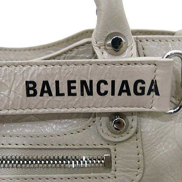 Balenciaga(발렌시아가) 300295 19 S/S 은장 베이지 컬러 미니 시티  2WAY [부산센텀본점] 이미지4 - 고이비토 중고명품