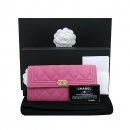 Chanel(샤넬) A80286Y836215B648 금장 보이 핑크 그레인드 카프스킨 장지갑 [부산센텀본점]