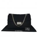 Chanel(샤넬) 블랙 트위드 빅 2.55 은장 체인 숄더백 [동대문점]