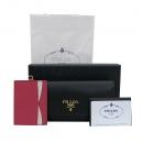 Prada(프라다) 1MH132 SAFFIANO METAL 블랙 사피아노 금장로고 장지갑+보조카드지갑 [부산센텀본점]