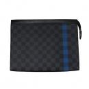 Louis Vuitton(루이비통) N64444 다미에 그라피트 블루 포인트 포쉐트 보야주 MM 한정판 클러치 [대전본점]