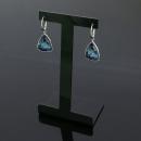 Swarovski(스와로브스키) 블루 크리스탈 벨 장식 귀걸이 [동대문점]