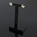 Swarovski(스와로브스키) 크리스탈 장식 스완 로고 귀걸이 [동대문점]