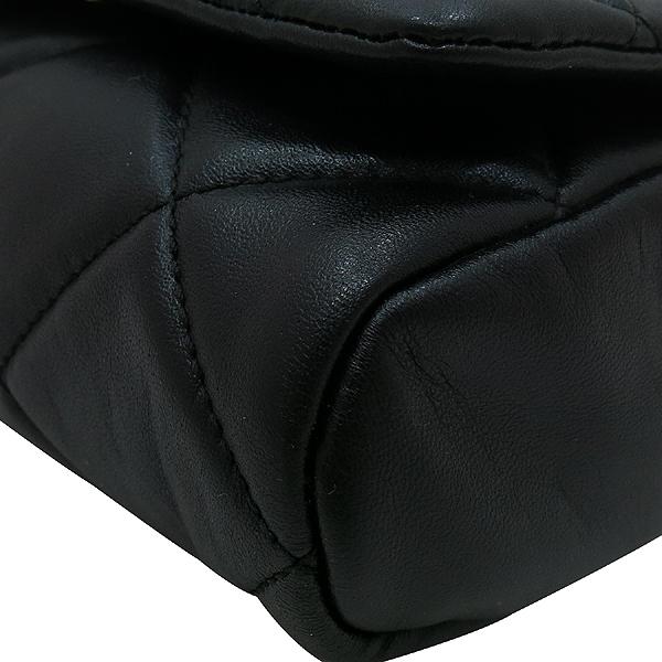 Ferragamo(페라가모) 22 C150 블랙 레더 금장 바라 장식 퀼팅 체인 크로스백 [인천점] 이미지5 - 고이비토 중고명품