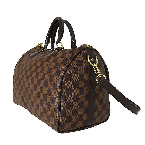 Louis Vuitton(루이비통) N41367 다미에 에벤 캔버스 신형 반둘리에 스피디 30 토트백 + 숄더 스트랩 2WAY [대전본점] 이미지3 - 고이비토 중고명품