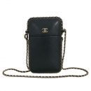 Chanel(샤넬) A94471 블랙 레더 COCO 로고 체인 장식 미니 크로스백 [동대문점]