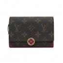 Louis Vuitton(루이비통) M64588 모노그램 캔버스 푸시아 컬러 플로르 컴팩트 월릿 중지갑 [부산센텀본점]