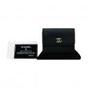 Chanel(샤넬) 금장 블랙 카프 스킨 COCO로고 까멜리아 포인트 반지갑 [부산센텀본점]