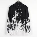 ALEXANDER MCQUEEN(알렉산더 맥퀸) 블랙 화이트 페인 패턴 남성용 셔츠 [강남본점]