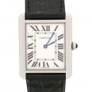 Cartier(까르띠에) W5200003 TANK SOLO(탱크 솔로) L 사이즈 가죽 밴드 남성용 시계 [강남본점]