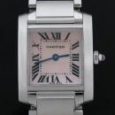 Cartier(까르띠에) W51028Q3 탱크 핑크 자개판 S 사이즈 스틸 쿼츠 여성용 시계 [인천점]