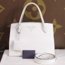 Prada(프라다) 1BA155 SAFFIANO CUIR NERO 사피아노 화이트 로고 토트백 + 숄더스트랩 2WAY W