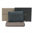 BOTTEGAVENETA(보테가베네타) 120701 V4651 다크그레이 레더 인트레치아토 카드명함 지갑 [부산센텀본점]