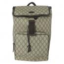 Gucci(구찌) 246103 GG로고 PVC 슈프림 캔버스 브라운 레더 트리밍 원 포켓 백팩 [대전본점]