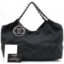 Chanel(샤넬) A33986 블랙 레더 카바스 쇼퍼 체인 숄더백 + 보조파우치 [강남본점]