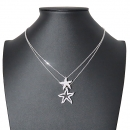 Swarovski(스와로브스키) 692862 크리스탈 장식 Holly Starfish (홀리 스타피쉬) 더블 목걸이 [대전본점]