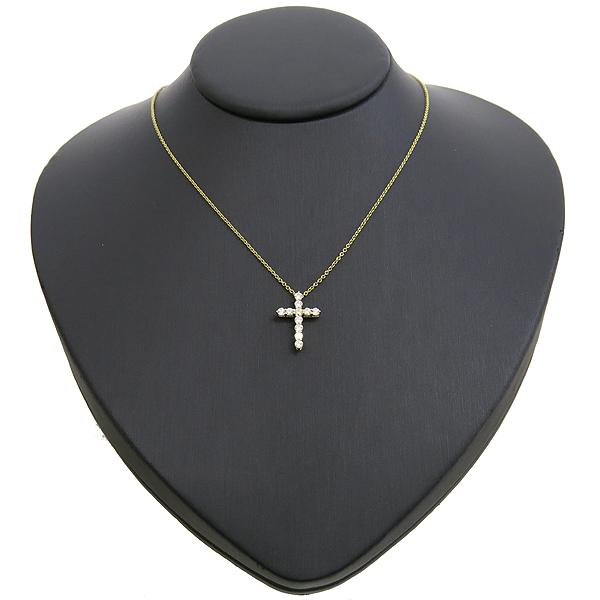 Tiffany(티파니) 18K(750) 옐로우 골드 11포인트 다이아 십자가 목걸이 [강남본점] 이미지2 - 고이비토 중고명품