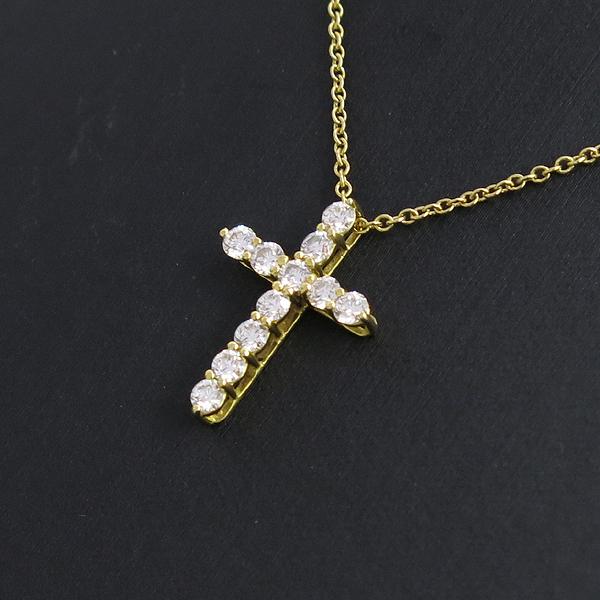 Tiffany(티파니) 18K(750) 옐로우 골드 11포인트 다이아 십자가 목걸이 [강남본점] 이미지3 - 고이비토 중고명품