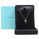 Tiffany(티파니) 18K(750) 옐로우 골드 11포인트 다이아 십자가 목걸이 [강남본점]