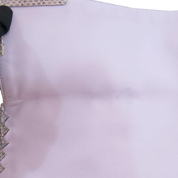 BOTTEGAVENETA (보테가베네타) 라이트 퍼플 컬러 측면 인트레치아토 레더 PYTHONE(파이톤) 혼방 숄더백 [대구동성로점] 이미지5 - 고이비토 중고명품
