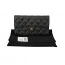 Chanel(샤넬) A31506Y01864 블랙 캐비어스킨 금장 로고 클래식 장지갑 [대구황금점]