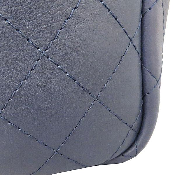 Chanel(샤넬) COCO 메탈릭 로고 네이비 컬러 체인 숄더백 [대구황금점] 이미지4 - 고이비토 중고명품