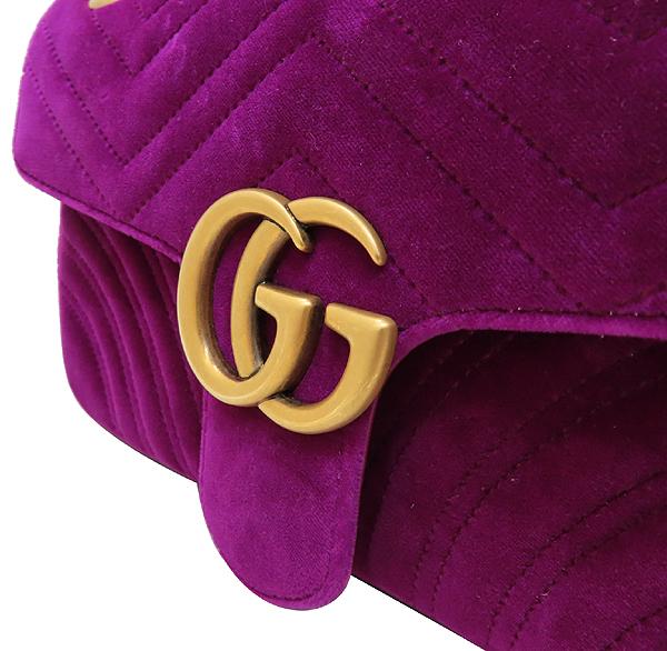 Gucci(구찌) 443497 퍼플 쉐브론 벨벳 레더 마몬트 체인 숄더백 [인천점] 이미지4 - 고이비토 중고명품