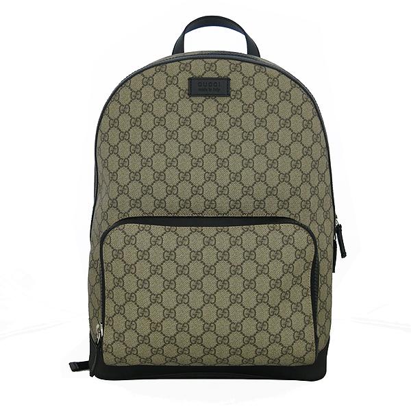 Gucci(구찌) 406370 KLQAX 9772 GG 수프림 캔버스 블랙 트리밍 원포켓 집업 백팩 [동대문점]
