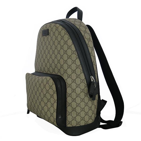 Gucci(구찌) 406370 KLQAX 9772 GG 수프림 캔버스 블랙 트리밍 원포켓 집업 백팩 [동대문점] 이미지2 - 고이비토 중고명품