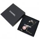 Chanel(샤넬) 크리스탈 장식 커스텀 진주 금장 플레이트 목걸이 [잠실점]