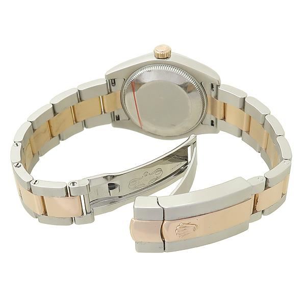 Rolex(로렉스) 178241 DATEJUST(데이저스트) 18K 골드 돔 베젤 실버 다이얼 바 인덱스 콤비 31mm 중형 오이스터 브레이슬릿 여성용 시계 [강남본점] 이미지3 - 고이비토 중고명품
