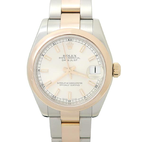 Rolex(로렉스) 178241 DATEJUST(데이저스트) 18K 골드 돔 베젤 실버 다이얼 바 인덱스 콤비 31mm 중형 오이스터 브레이슬릿 여성용 시계 [강남본점] 이미지5 - 고이비토 중고명품