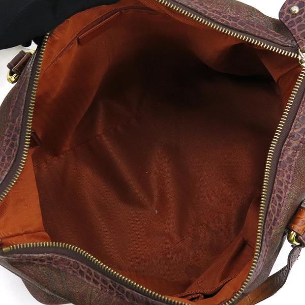 Etro(에트로) 18419 페이즐리 크로커다일 패턴 핸들 디테일 토트백 [강남본점] 이미지5 - 고이비토 중고명품