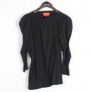 Vivienne_Westwood (비비안웨스트우드) 면 100% 네이비 컬러 넥 밴딩 디자인 셔링 여성용 티셔츠 [강남본점]