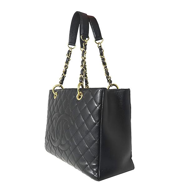 Chanel(샤넬) A50995Y01588 캐비어스킨 블랙 그랜드샤핑 금장 로고 체인 숄더백 [대전본점] 이미지2 - 고이비토 중고명품