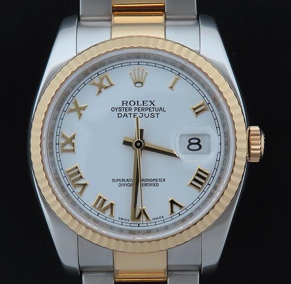 Rolex(로렉스) 116233 DATEJUST 데이트저스트 18K 콤비 오이스터 밴드 스틸 로마인덱스 화이트다이얼 오토매틱 남성용 시계 [인천점] 이미지2 - 고이비토 중고명품